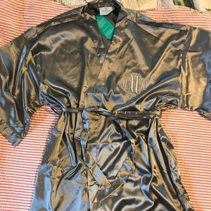 Other - Satin robe with monogram